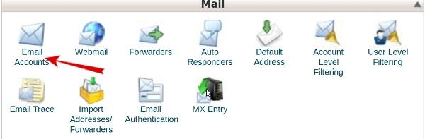 ایجاد ایمیل در کنترل پنل سی پنل