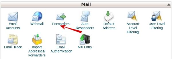 مدیریت ساخت ایمیل فورواردر - Email Forwarders