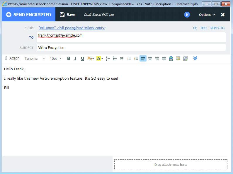 کدینگ کردن ایمیل ارسال امن